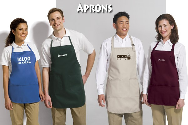 Get Your Name or Company Logo On Aprons