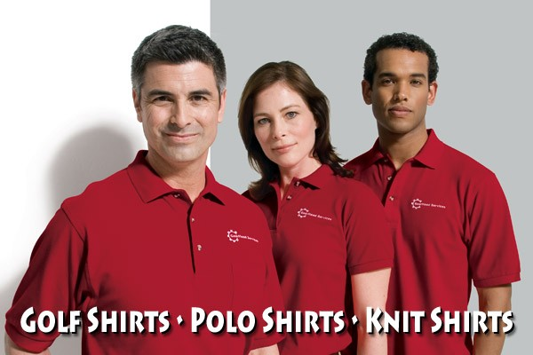 Get Your Name or Company Logo On Knit Polo Shirts, Golf Shirts