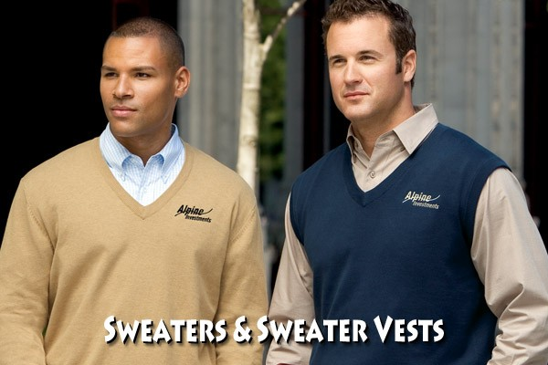 Get Your Company Logo on Sweaters & Sweater Vests